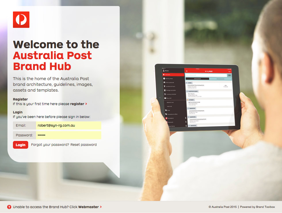 Auspost Login Page