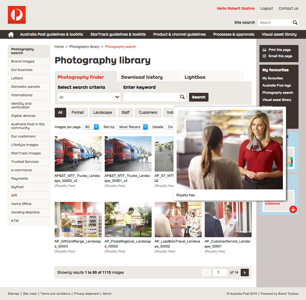 Auspost Photo Library Page