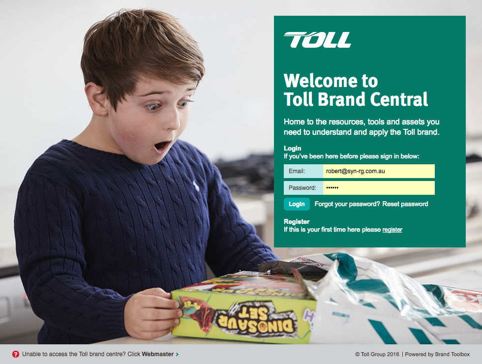 Toll Login Page