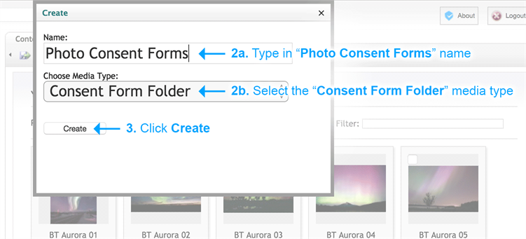 Consent Forms - Create consent folder