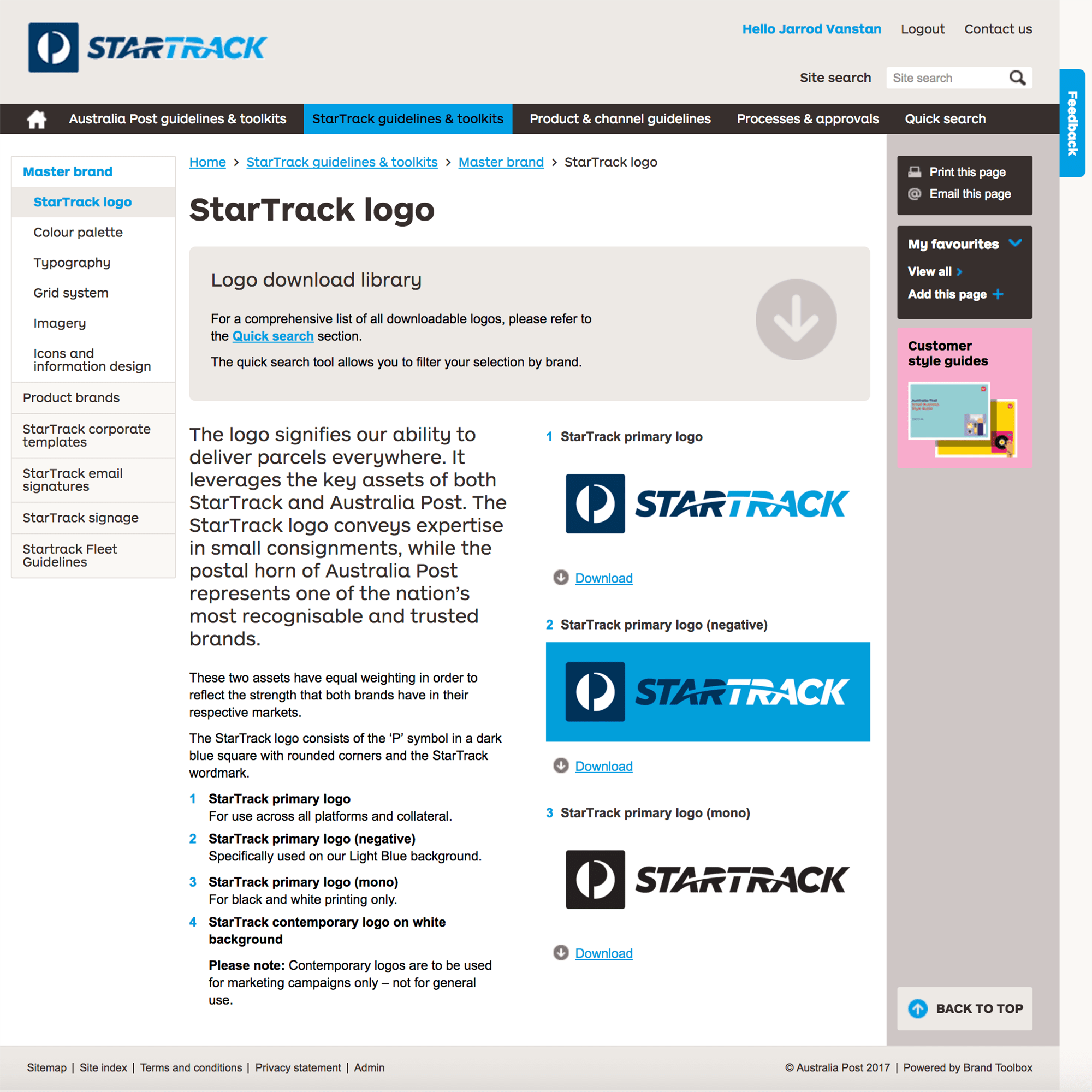 Startrack Work 01