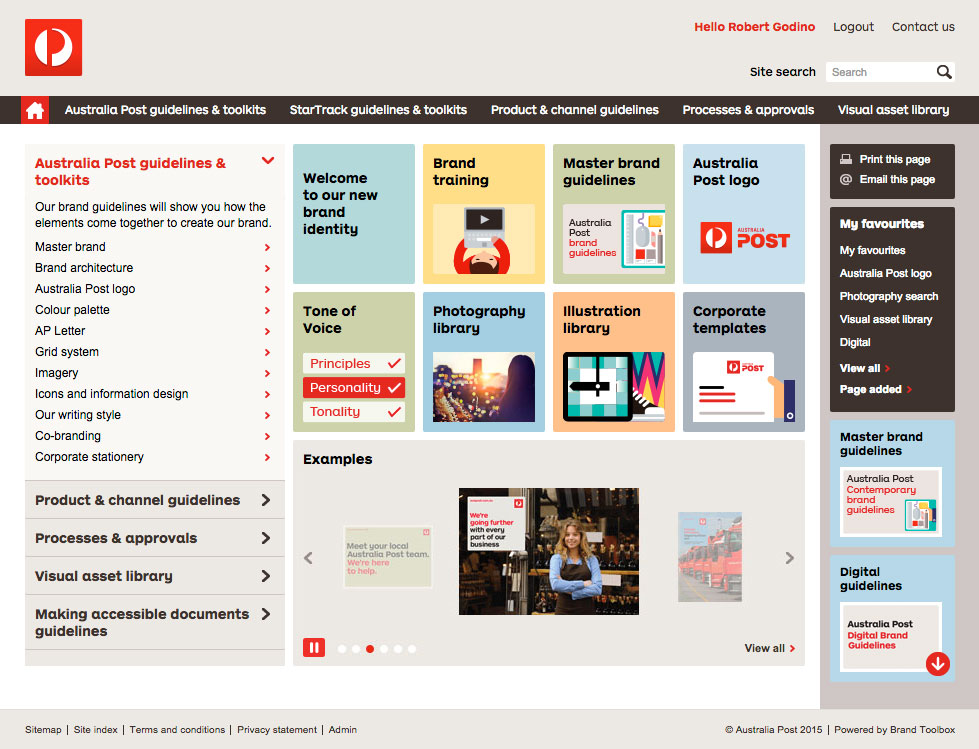 Auspost Home Page