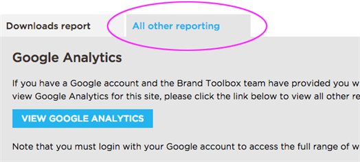 All Other Reporting tab