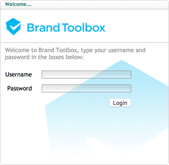 Brand Toolbox backend login