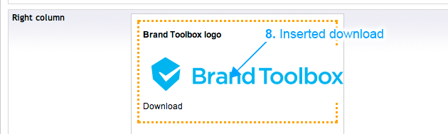 Brand Toolbox Asset Library Add a document to an individual page (Step 8)