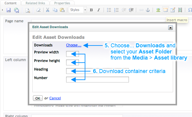 Brand Toolbox Asset Library Add a document to an individual page (Steps 5-6)