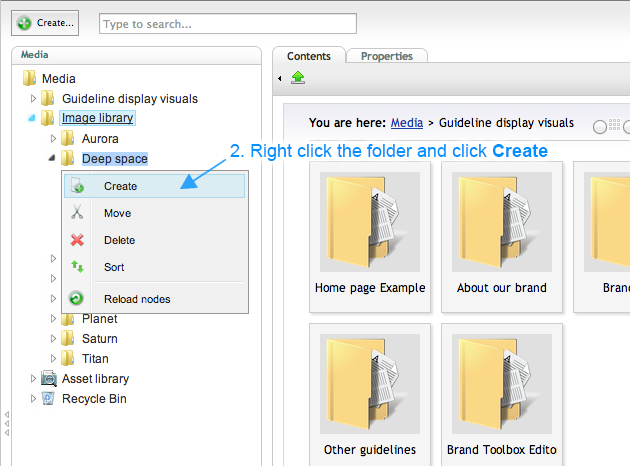 Brand Toolbox Version 3.0 Image Library Uploading an Image or Creating a Folder