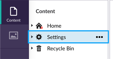 Content Settings Icon
