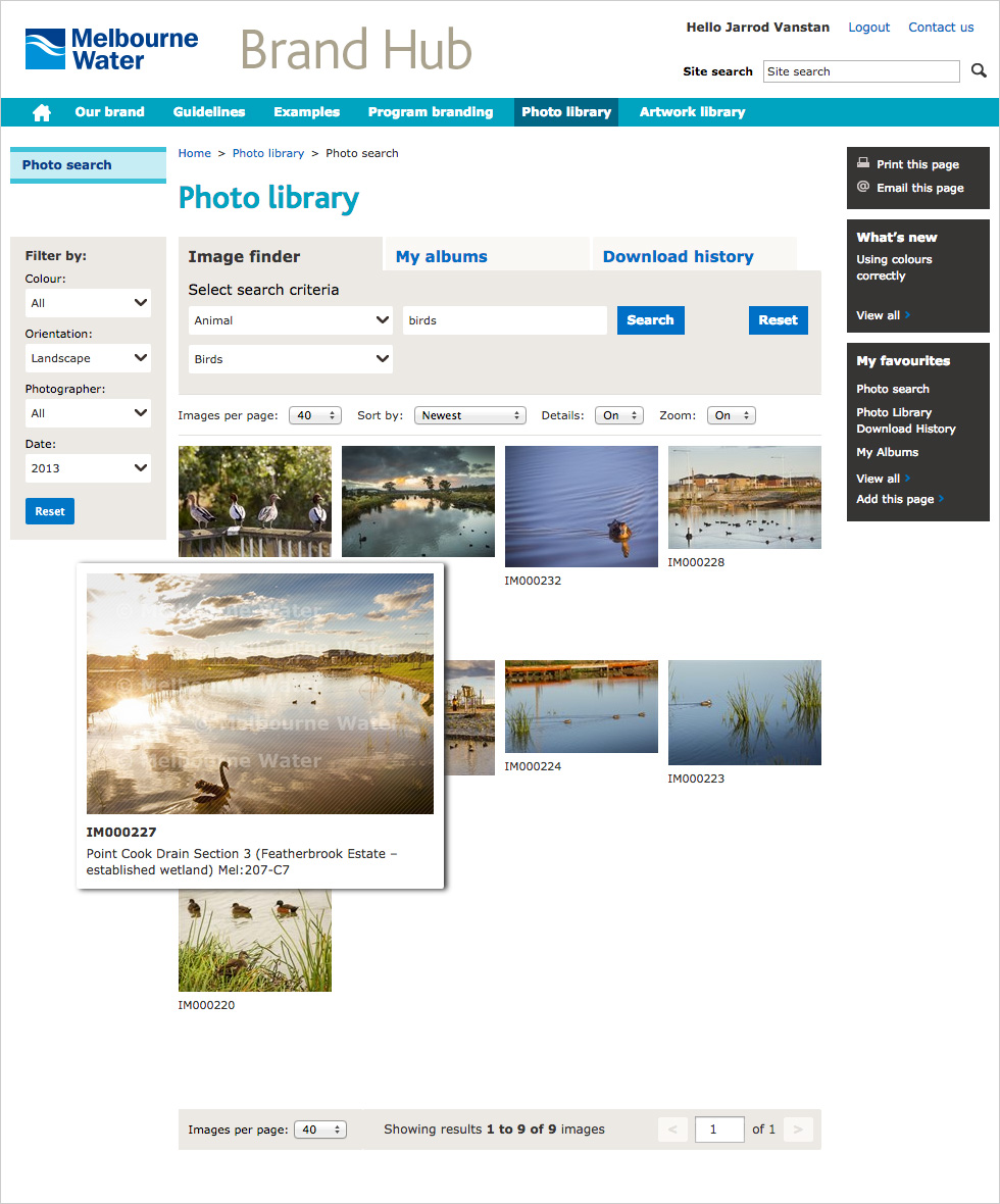 Melbourne Water Photo Library