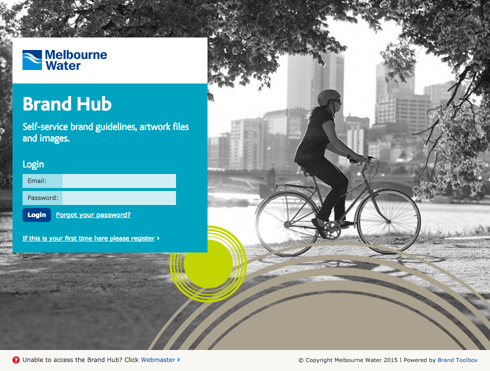 Melbourne Water Login Page